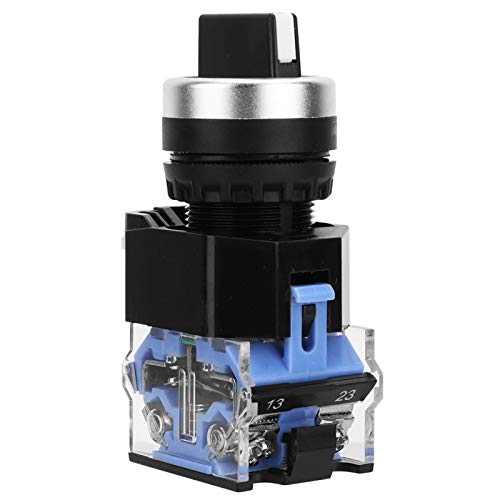 Interruptor selector de reinicio automático 2NO 10 Uds interruptor giratorio momentáneo de 3 posiciones orificio de montaje de 22 mm 440 V 10A para dispositivos eléctricos