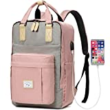 Backpack for Women, Kasqo Water Resistant Classic School Backpack 15.6 inch Laptop Rucksack