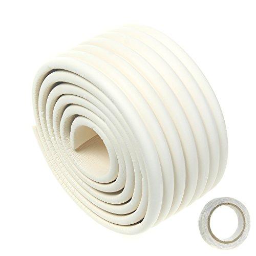 TUKA Multiusos Protector Espuma, 200cm x 80mm x 8mm Universal anticolisión Protector Rollo para Superficie Dura & Bordes, anticolisión Protección Tira para Bebés Niños, Off Blanco, TKD7002 Off White