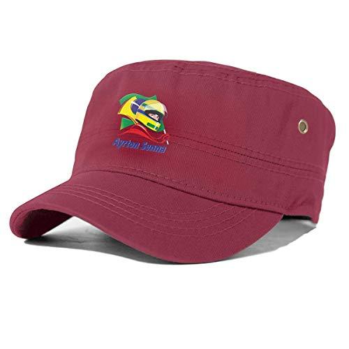 KOMOBB Logotipo de Ayrton Senna Sombrero de algodón Militar para Hombres Gorra de béisbol Militar...