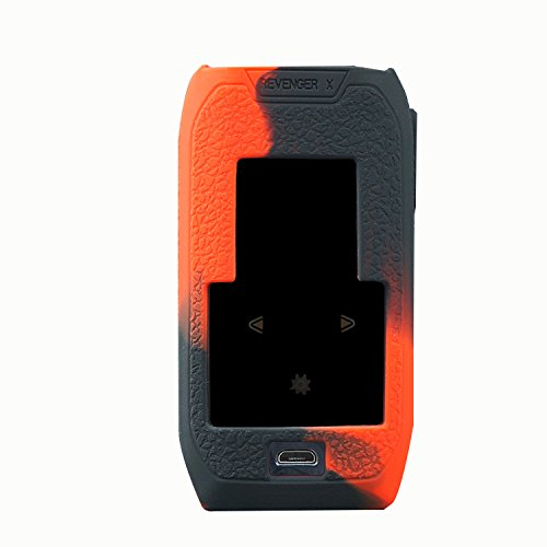 Rayley Modshield Vaporesso Revenger X 220w Box mod Protective Silicone Case Skin Cover Sleeves Vaporesso Revenger X Mod (Black Red)