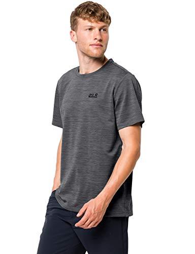 Jack Wolfskin Herren HYDROPORE XT MEN schnelltrocknendes T-Shirt, Dark Iron, M
