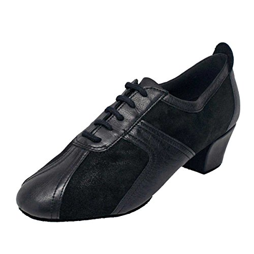 Ray Rose - Damen Tanzschuhe/Trainerschuhe 410 Breeze - Velourleder/Leder Schwarz - Normalweite (Medium) - 4 cm Contour [UK 6]