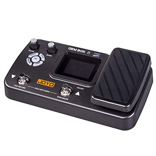 JOYO GEM BOX Guitar Multi Effect Processor Expression Pedal with 66 Effect Types, 40 Drum Rhythms,180s Looper, 7 Amp Modeling,Tap tempo (Box-II)