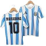 Argentine 1986 Coupe du Monde Classique Vintage Maillot Uniforme T-shirt Ballon d'or Maradona Forever Hero Numéro 10