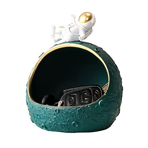 WXHXSRJ Adornos de Mesa de Resina para decoración de astronautas, Almacenamiento de Llaves de Entrada de Porche, Muebles de decoración para el hogar de la Sala de Estar,Verde