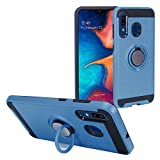 Z-GEN - Compatible with Samsung Galaxy A20, Galaxy A50 - Hybrid Phone Case w/Ring Stand - RS2 Navyblue