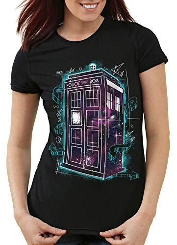 style3 Space Box T-Shirt Damen zeitreise Serie Polizei notrufzelle, Größe:M