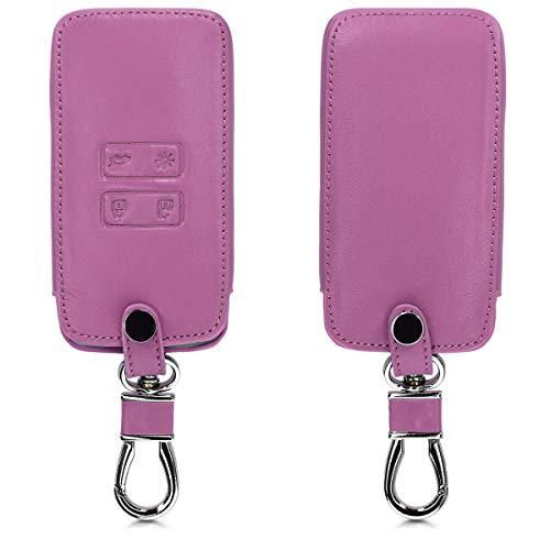 kwmobile Funda Compatible con Renault Llave de Coche Smart Key de 4 Botones (Solo Keyless Go) - Cubierta de Cuero sintético - Case para Mando de Auto en Violeta