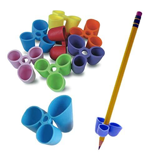 De potlood Grip Schrijven CLAW voor Potloden en Gebruiksvoorwerpen, Kleine Maat, 12 Graaf Verschillende Kleuren (TPG-21112)