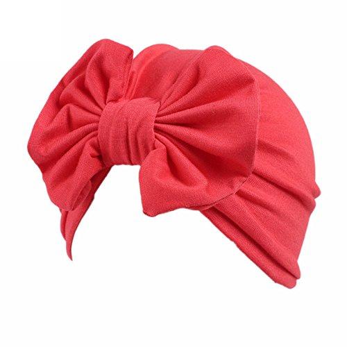 Cuidado del bebé, niños Bebés y niñas Boho Sombrero Beanie Bufanda Turbante Head Wrap Cap RD, Ropa para niños (Rojo One Size)
