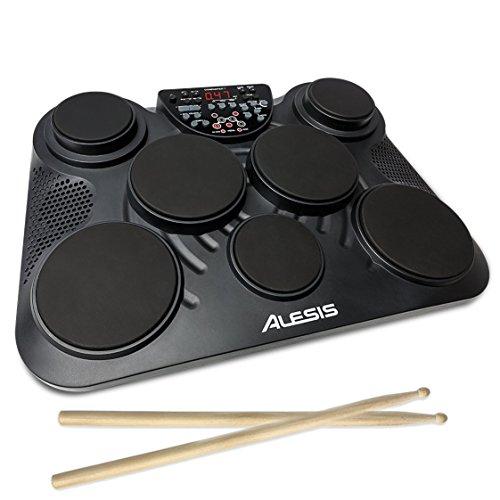 Alesis 電子ドラム スピーカー内蔵 ポータブル フットペダル ドラムスティック USB ヘッドホン端子 音源265...