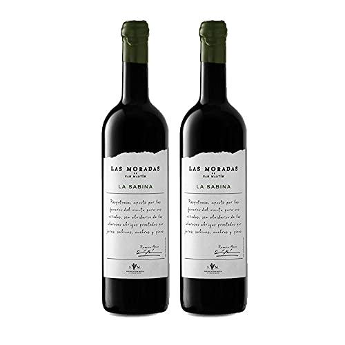 Vino Tinto La Sabina de 75 cl - D.O. Madrid - Bodegas Las Moradas de San Martin (Pack de 2 botellas)