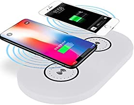Dual Wireless Phone Charger - Fast Charge 2 Phones at Once - no Need to Plug in Phone just Put it on The Charger
