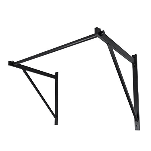 Happybuy Wall Mounted Fitness 500LBS Capacity Chin Pull Up Bar Gym Workout Pull Up Chin Up Bar Training Fitness Heavy Duty Wall Easy Installation
