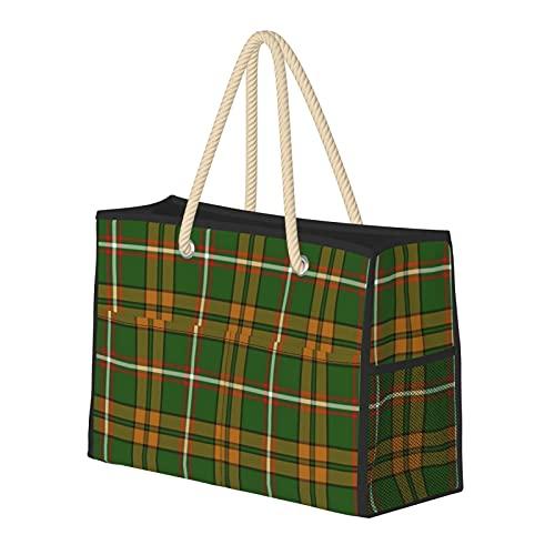 Bolsa de playa grande y bolsa de viaje para mujer – Bolsa de piscina con asas, bolsa de semana y bolsa de noche – O'Neill Tartan Restringido