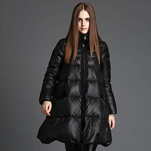 FAPROL-Down Jackets Doudoune, d'hiver Manteaux pour Femmes Enceintes Parkas, Blousons en Duvet De Canard Noir Vestes, Manche Coupe-Vent Black M