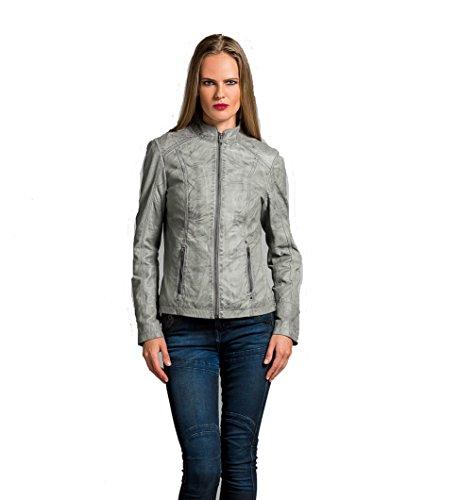Urban Leather Fashion Lederjacke - Rt01, Grau, XL