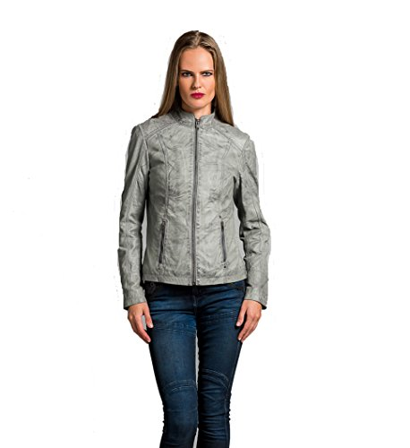 Urban Leather Fashion Lederjacke - Rt01, Grau, L