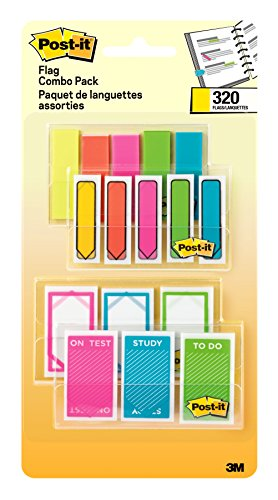 Postit Flags Assorted Color Combo Pack Flags Make it Simple to Mark Flag or Highlight Important Information 120 94 in Wide and 200 47 in Wide Flags 4 OnTheGo Dispensers/Pack 683XLS