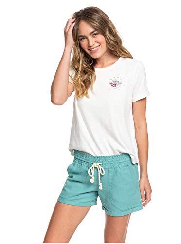 Roxy Damen Non-Denim Shorts Little Kiss - Leinen-Beachshorts für Frauen, Canton, L, ERJNS03255