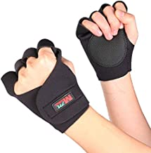 GENERIC 1 Pair F01 Cycling FitneHalf Finger Black Sport Bicycle Glove