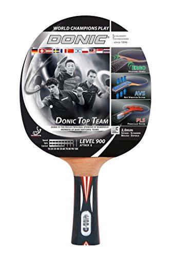 Donic-Schildkröt Tischtennisschläger Top Team 900, AVS & PLS-Griff, 2,0 mm Schwamm, Alpha Slick - ITTF Belag, 754199