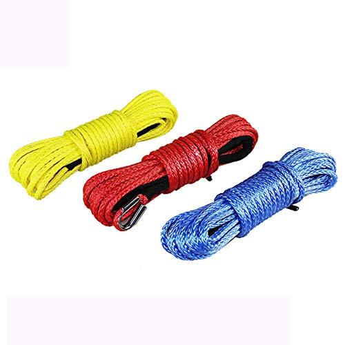 SHAOXI 100 pies 5 MMMX15M Remolque De Gran Densidad del Remolque De La Cuerda De La Cuerda del Cabino De La Cuerda ATV Cuerda De Tracción para Auto (Color : Red)