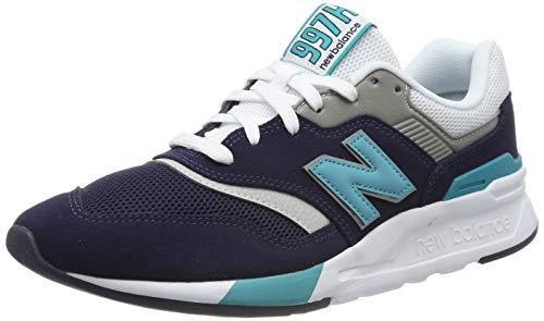 New Balance Herren 997H V1 Turnschuh, Pigment/Neon Aqua Blue, 38.5 EU