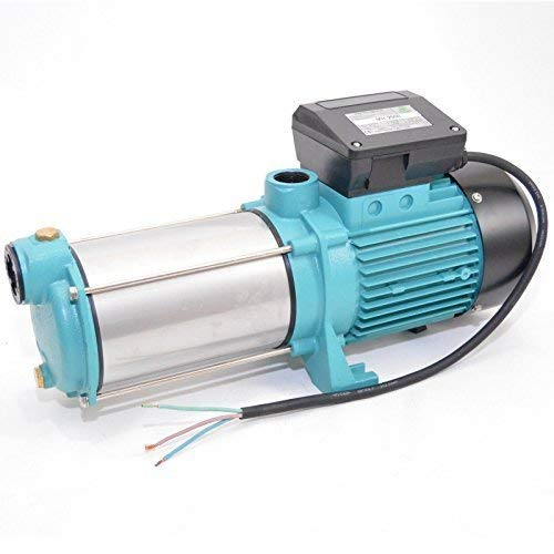 Powermat Gartenpumpe MH2000-2000Watt - 230V - Förderleistung 7800 L/h - 7,5bar. Robuste und rostfreie Edelstahlwelle + integrierter thermischer Motoschutzschalter + Rückschlagventil.