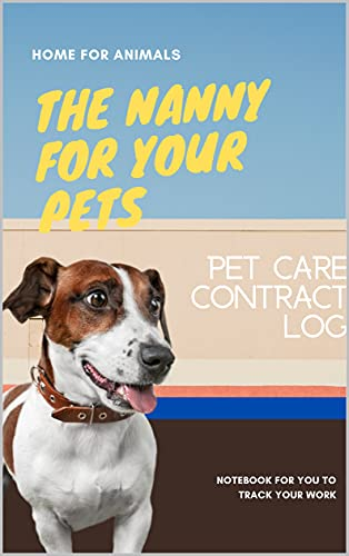 Pet Care Contract Log (English Edition)