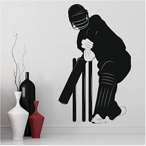 Xxscz Spelen Cricket Sport Muursticker Oefening Kamer Vinyl Muursticker Speelkamer Huisdecoratie Accessoires voor Woonkamer