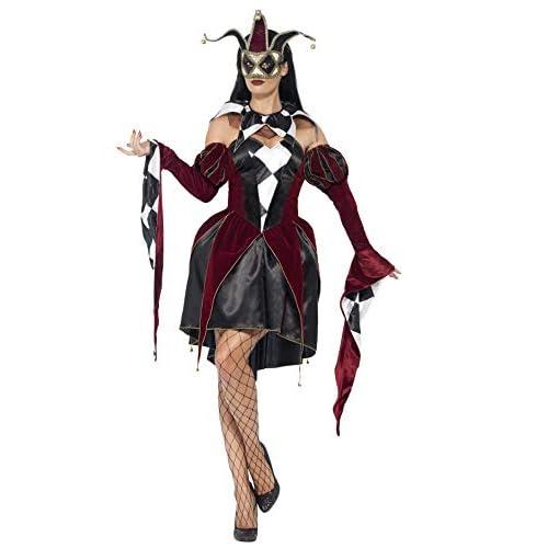 Smiffys Costume Arlecchino Gotico Veneziano, comprende Abito, Maniche e Collare