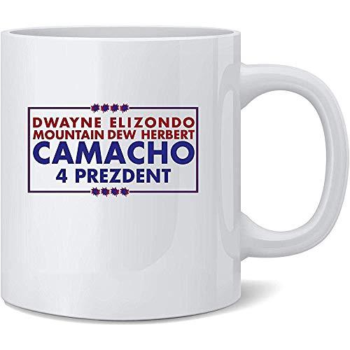 Camacho para el presidente 2020 Campaña divertida Taza de café de cerámica Tazas de café Taza de té Regalo divertido de la novedad