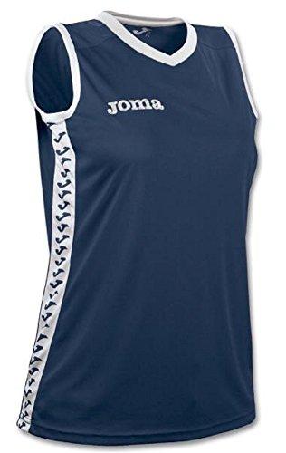 Joma Camiseta Emir Mujer Talla XS-S, Color Azul Marino, Blanco