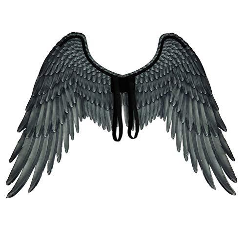 Stecto Unisex 3D Engelsflügel Vlies Kreative Federflügel Halloween Engelsflügel Feenflügel Kostüm Party Karneval Cosplay Flügel für Erwachsene