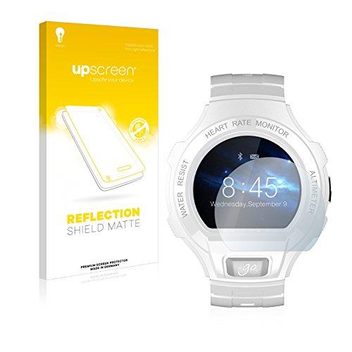 upscreen Entspiegelungs-Schutzfolie kompatibel mit Alcatel Go Watch – Anti-Reflex Bildschirmschutz-Folie Matt