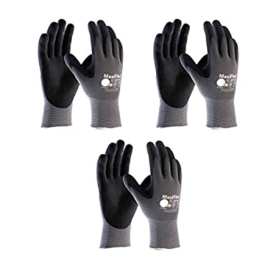3 Pack 34-874 MaxiFlex Ultimate Nitrile Grip Work Gloves Sizes S-XL (Extra Large)