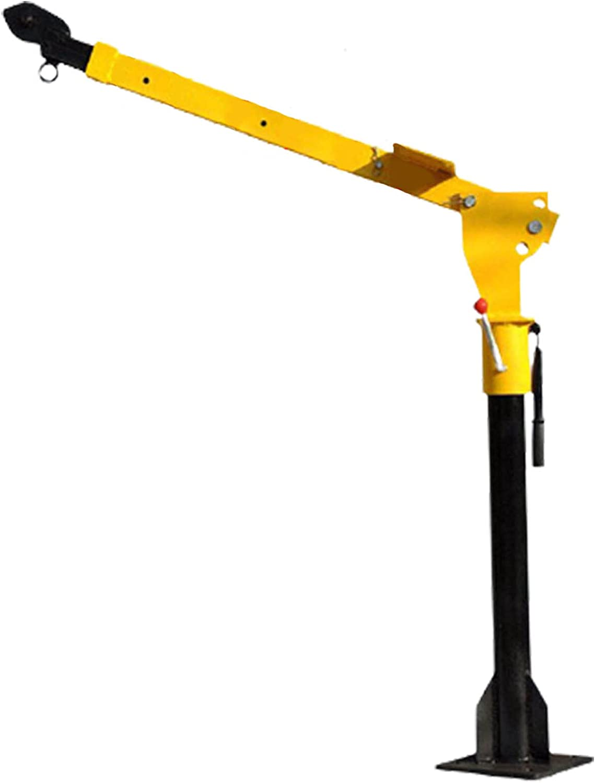 QILIN Grúa De Taller, con Cabrestante Eléctrico 3000 LB 12v / 24v, Rotación De 360 °, Grúa Colgante Plegable Adecuada para Vehículos con Base Desmontable