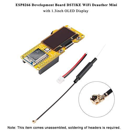 MakerHawk ESP8266 DSTIKE WiFi Deauther 1.3inch OLED-display V2.0.5 software onboard en 2dB antenne, spel met TP4056 + PL5353A batterij, bescherming kort, overbelasting, overontlading en temperatuur