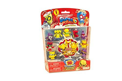 SuperZings- Rivals of Kaboom Blíster con 10 figuras, Color surtido (Magic Box Int Toys SZ1P1300)