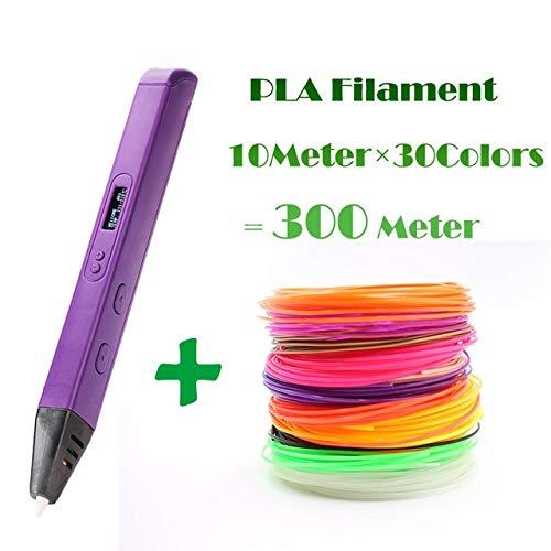 HUAHUA Pluma De ImpresióN 3D RP800A 3D Professional Printing 3D Pen con OLED DisplayGeneration 3D Drawing Pen para Doodling ArtCraft Making and Education