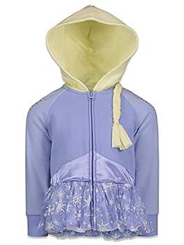 Disney Frozen Elsa Little Girls Fleece Costume Zip-Up Hoodie with Cape 5
