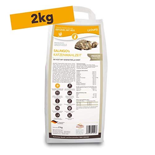 SALiNGO Premium Katzenfutter trocken | Geflügel mit Reis | ohne Zucker | Urinary | 2kg