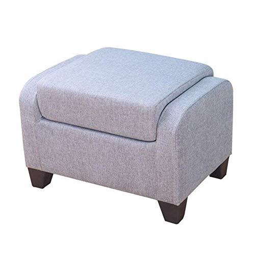 GPWDSN grijs voetenpaneel voor de woonkamer massief houten dual us-sofa kruk schoen Bench Mode startpagina Adult Stool stof groen