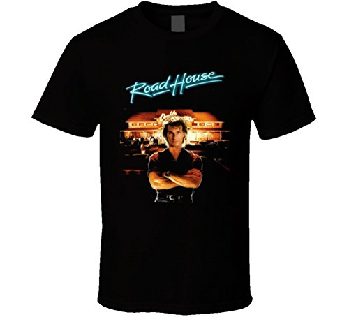 Roadhouse Patrick Swayze Retro 80's Movie T Shirt XL Black