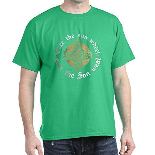 CafePress Sunwheel/Son Weal Dark T Shirt 100% Cotton T-Shirt Kelly Green