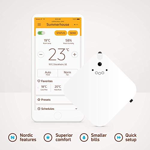 AirPatrol Nordic V2 - Smart Wärmepumpe und AC Steuerung   Funktioniert über Mobiles Netzwerk per SMS und ist ideal für Sommerhäuser & Winterkabinen   für iOS & Android