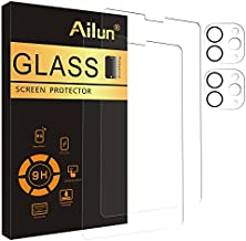 Ailun 2Pack Screen Protector for iPad Pro 2020 & 2021 [12.9 inch] + 2 Pack Camera Lens Protector,Tempered Glass Anti-Scratch Case Friendly