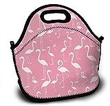 Mochila de neopreno para niños, diseño de flamencos, bolsa de la compra, bolsa de almuerzo, bolso con correa de hombro ajustable para niños y niñas